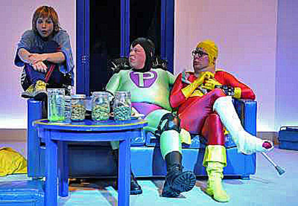 2009 // Bühnenbild und Kostüme für ANGSTMÄN / Hartmut El Kurdi / Regie: Thomas Hollaender / Staatstheater Mainz
